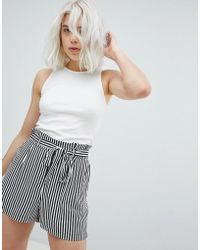 Pull&Bear - Ribbed Cropped Tank - Lyst