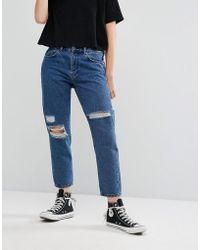 WÅVEN - Aki Boyfriend Jeans With Rips - Lyst