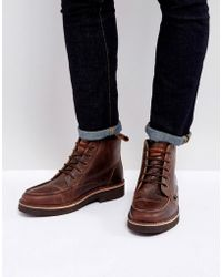 Farah - East Lace Up Boots - Lyst