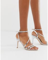 184964df104a Faith Solo Fizz Cutout Heeled Sandals in Pink - Lyst