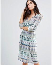 Traffic People | Striped 3/4 Sleeve Dress | Lyst