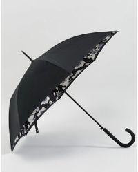 Fulton - Bloomsbury 2 Mono Floral Umbrella - Lyst