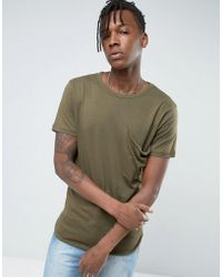 Avior - T-shirt With Oversized Pocket - Lyst