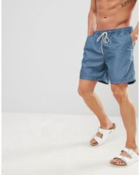 SELECTED - Stripe Swim Shorts - Lyst