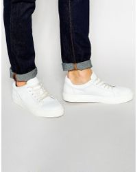 SELECTED - Dylan Leather Sneakers - White - Lyst