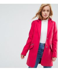 ASOS - Slim Boyfriend Coat With Zip Pocket - Lyst