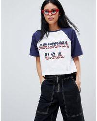 Pull&Bear - 'arizona Usa' Raglan T-shirt - Lyst