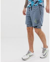 00271cafbe Calvin Klein Id Ck Nyc Retro Tailored Swim Shorts in Black for Men ...