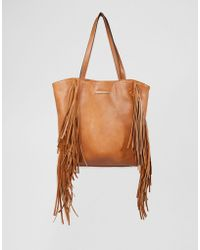 Little Mistress - Fringed Bag - Tan - Lyst