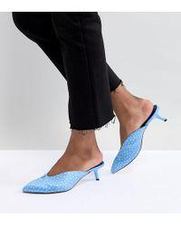 Stradivarius - Mules de puntos azules de - Lyst