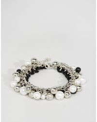 Lipsy - Disc And Bead Bracelet - Lyst