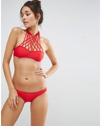 Little Mistress - Bikini Set With Cross Strap Detail - Lyst