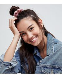 ASOS - Pack Of 2 Bow Hair Scrunchies - Lyst