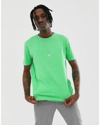f719e89471d3 ASOS T-shirt With Awks Printed Pocket in White for Men - Lyst