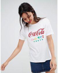 Stradivarius - Coca Cola Tee With Japanese Text - Lyst