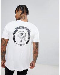 KTZ   Oakland Raiders T-shirt With Helmet Back Print   Lyst