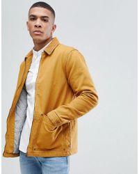 Pull&Bear - Cord Collar Jacket In Mustard - Lyst