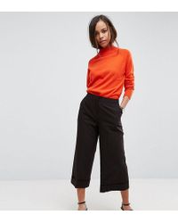 ASOS - Mix & Match Clean Culotte With Turn Up - Lyst