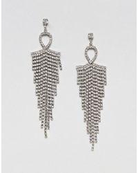 Nylon | Diamante Tassel Drape Earrings | Lyst