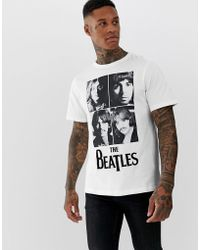 Pull&Bear - The Beatles T-shirt In White - Lyst