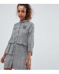 Noisy May Petite - Ruffle Shirt Dress - Lyst