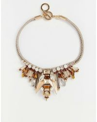 Nali - Gold Beetle Statement Necklace - Lyst