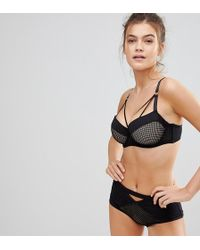 0379d2d277 Lyst - Asos 4505 Moulded Sports Bra With Underwire in Black
