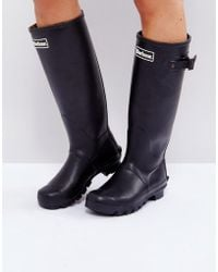 Barbour - Bede Classic Welly Boot With Tartan Lining - Lyst