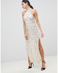 AX Paris - Lace Maxi Dress - Lyst