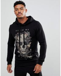 Religion | Hoodie With Bird Skull Print | Lyst