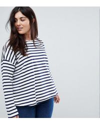ASOS - Stripe Top In Baby Loop Back - Lyst
