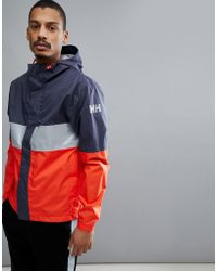 Helly Hansen - Active Jacket In Navy/red - Lyst