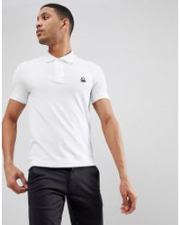Benetton - Muscle Fit Polo In White - Lyst