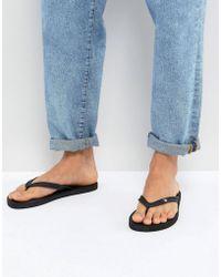 Volcom - Rocker Thongs In Black - Lyst