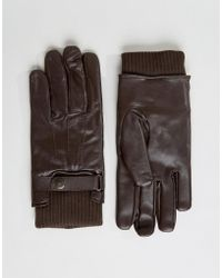 French Connection - Leather Gloves - Lyst