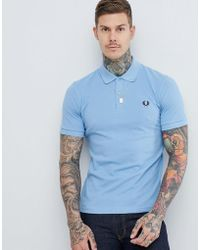 Fred Perry - Reissues Polo In Sky Blue - Lyst