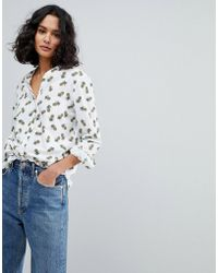 BOSS by Hugo Boss - Pineapple Print Shirt - Lyst