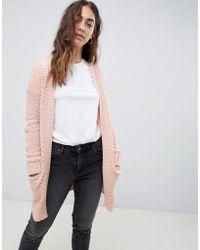 Vero Moda - Chunky Knitted Cardigan - Lyst