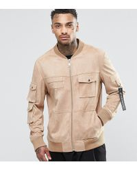 Underated - Faux Suede Utility Jacket - Lyst