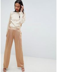 Reiss - Ariana Liquid Gold Pants - Lyst