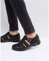 Dr. Martens - Revive Fenton Closed Sandals In Black - Lyst