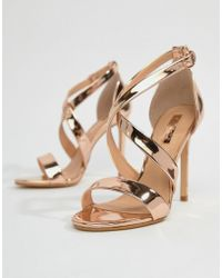 Office - Harper Rose Gold Strappy Heeled Sandals - Lyst