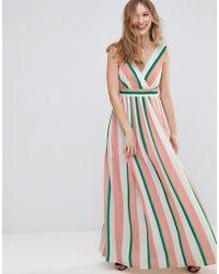 Traffic People - Striped Maxi Dress - Lyst