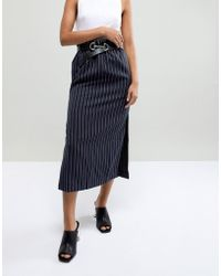 ASOS - Leather Snaffle Buckle Waist & Hip Jeans Belt In Silver - Lyst