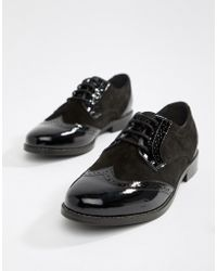 Dune - London Foxxy Lace Up Leather Brogue Shoes - Lyst