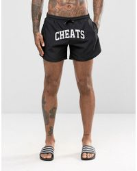 Cheats & Thieves - Mid Length Swim Shorts In Black - Lyst