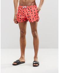 Abuze London - Printed Short Swim Shorts - Lyst