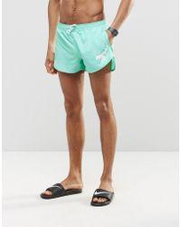 Abuze London - Short Swim Shorts In Aqua Green - Lyst