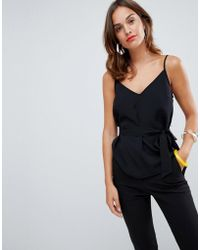 French Connection - Dalma Tie Waist Cami Top - Lyst