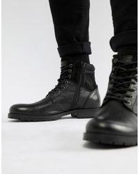 Jack & Jones - Leather Boot - Lyst